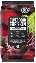 Parfémy, Parfumerie, kosmetika Čisticí pleťové ubrousky Řepa  - Superfood For Skin Brightening Facial Cleansing Wipes Beet