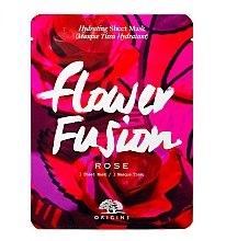 Parfémy, Parfumerie, kosmetika Zvlhčující látková maska na obličej s růží - Origins Flower Fusion Rose Hydrating Sheet Mask