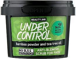 "Parfémy, Parfumerie, kosmetika Peeling na obličej ""Under Control"" - Beauty Jar Anti-Blemish Scrub For Face"