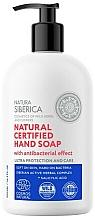 Parfémy, Parfumerie, kosmetika Antibakteriální mýdlo na ruce Ultra ochrana a péče - Natura Siberica Natural Certified Hand Soap