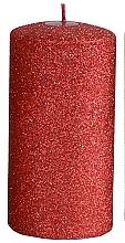 Parfémy, Parfumerie, kosmetika Dekorativní svíčka, červená, 7x10 cm - Artman Glamour