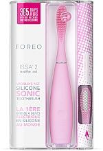 Parfémy, Parfumerie, kosmetika Elektrický zubní kartáček s doplňkovým nástavcem - Foreo Issa 2 Sensitive Set Pearl Pink