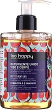 Parfémy, Parfumerie, kosmetika Gel na obličej a tělo Jahodový strom a bezinka - Bio Happy Arbutus & Elderberry Face & Body Wash