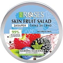 "Parfémy, Parfumerie, kosmetika Peeling na obličej a tělo ""Bobule a černý pepř"" - Nature of Agiva Roses Body Fruit Salad Nourishing Sugar Scrub"