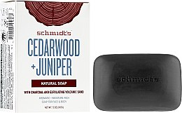 Parfémy, Parfumerie, kosmetika Mýdlo - Schmidt's Naturals Bar Soap Cedarwood Juniper With Charcoal