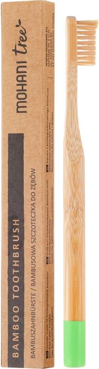 Zubní kartáček bambusový, měkký, zelený - Mohani Toothbrush