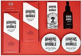 Parfémy, Parfumerie, kosmetika Sada - Hawkins & Brimble Set (scr/125ml+asb/125ml+br/oil/50ml+sh/cr/100ml+wax/100ml+sh/brush)