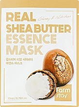 Parfémy, Parfumerie, kosmetika Látková maska - FarmStay Real Shea Butter Essence Mask