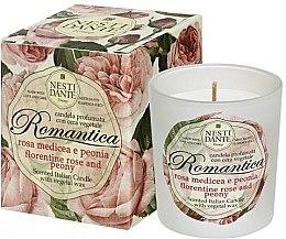 """Parfémy, Parfumerie, kosmetika Vonná svíčka """"Florentinská růže a pivoňka"""" - Nesti Dante Romantica Florentine Rose & Peony"""