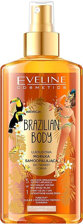 Hydratační olej na obličej a tělo s opalovácím účinkem - Eveline Cosmetics Brazilian Mist Face & Body