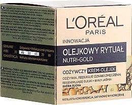 Parfémy, Parfumerie, kosmetika Krém-olej pro suchou plet' - L'Oreal Paris Nutri Gold Cream-Oil