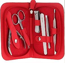Parfémy, Parfumerie, kosmetika Sada na manikúru Multi, MS-10, 6 předmětů, červená - Staleks Manicure Set
