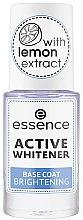 Parfémy, Parfumerie, kosmetika Bělící lak na nehty - Essence Active Whitener Base Coat Brightening