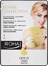 Parfémy, Parfumerie, kosmetika Hydratační a vyživující maska s zpevňujícím účinkem - Iroha Divine Collection Gold & Collagen