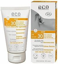 Parfémy, Parfumerie, kosmetika Voděodolný opalovací krém SPF30 s efektem opálení - Eco Cosmetics Sonne SLF 30 Getoent