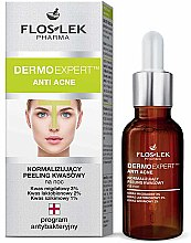 Parfémy, Parfumerie, kosmetika Normalizační noční peeling - Floslek Dermo Expert Anti Acne Peeling