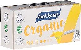 Parfémy, Parfumerie, kosmetika Tampony mini organické bez aplikátoru, 16ks - Vuokkoset Organic Mini Tampons