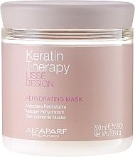 Parfémy, Parfumerie, kosmetika Vlasová maska, hydratační - Alfaparf Lisse Design Keratin Therapy Rehydrating Mask