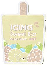 "Parfémy, Parfumerie, kosmetika Látková maska ""Zmrzlina-Ananas"" - A'pieu Icing Sweet Bar Sheet Mask"
