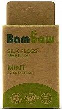 Parfémy, Parfumerie, kosmetika Zubní nit z hedvábí Máta - Bambaw (náhradní náplň)