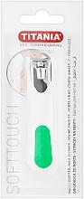 Parfémy, Parfumerie, kosmetika Kleštičky na nehty chromované, bílo-zelené - Titania
