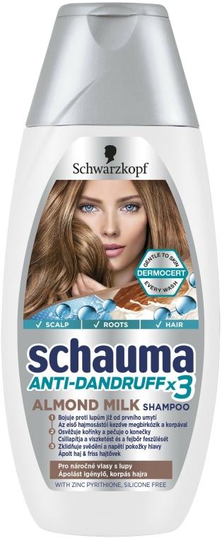 "Šampon proti lupům ""Mléčné mandle"" - Schwarzkopf Schauma Anti-Dandruff x3 Almond Milk"