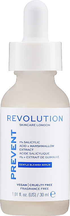 Sérum s 1% kyselinou salicylovou - Revolution Skincare 1% Salicylic Acid Serum With Marshmallow Extract