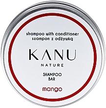 Parfémy, Parfumerie, kosmetika Vlasový šampon 2v1, v metalickém kelímku - Kanu Nature Shampoo With Conditioner Shampoo Bar Mango