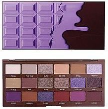 Parfémy, Parfumerie, kosmetika Paleta očních stínů, 18 odstínů - I Heart Revolution Eyeshadow Palette Violet Chocolate