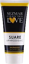 Parfémy, Parfumerie, kosmetika Sprchový gel 2v1 na vlasy a tělo - Sezmar Collection Aphrodisiac Suare Hair&Body Shower Gel