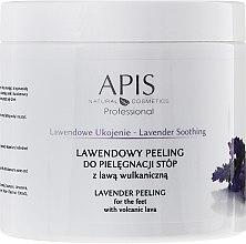 "Parfémy, Parfumerie, kosmetika Peeling na nohy ""Levandule"" - APIS Professional Lavender Soothing Lavender Peeling For Foot Care"
