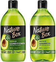 Parfémy, Parfumerie, kosmetika Sada - Nature Box Avocado Oil (shmp/385ml + cond/385ml)