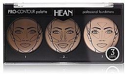 Parfémy, Parfumerie, kosmetika Paleta na konturování obličeje 3 odstíny - Hean Pro-Countour Palette