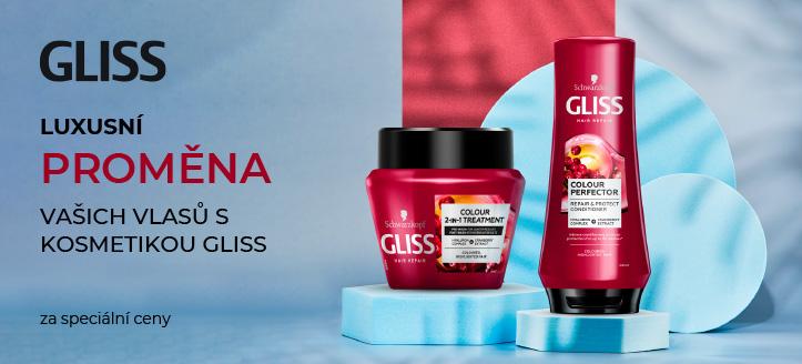 Sleva 25% na akční přípravky pro péči o vlasy Gliss Kur. Ceny na webu jsou včetně slev