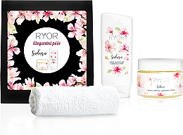 Parfémy, Parfumerie, kosmetika Sada - Ryor Sakura Box (sh/gel/200ml+peel/325ml+towel)