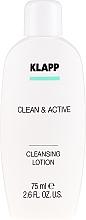 Parfémy, Parfumerie, kosmetika Základní čistící emulze - Klapp Clean & Active Cleansing Lotion