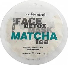 Parfémy, Parfumerie, kosmetika Maska-scrub na obličej Matcha a Aloe Vera - Cafe Mimi Face Mask