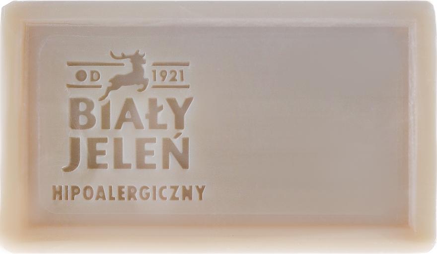 Zelené jílové dermatologické mýdlo - Bialy Jelen Apteka Alergika Soap — foto N2