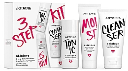 Parfémy, Parfumerie, kosmetika Sada - Artemis of Switzerland Skinlove 3 Step Daily Routine Kit (face/gel/30ml + face/tonic/30ml + gel/cr/20ml)