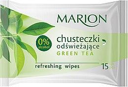 "Parfémy, Parfumerie, kosmetika Osvěžující ubrousky ""Green Tea"", 15ks - Marion"