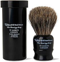 Parfémy, Parfumerie, kosmetika Holicí štětec, 8,5 cm, s cestovním pouzdrem, černý - Taylor of Old Bond Street Shaving Brush Pure Badger