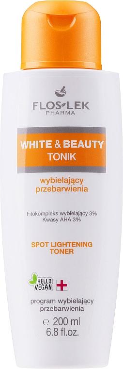 Tonikum na zesvětlení pigmentových skvrn s AHA-kyselinami - Floslek White & Beauty AHA Spot Lightening Toner