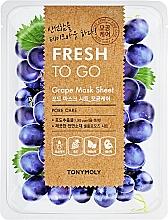 Parfémy, Parfumerie, kosmetika Osvěžující plátýnková maska s hrozny - Tony Moly Fresh To Go Mask Sheet Grape
