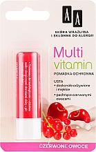 "Parfémy, Parfumerie, kosmetika Balzám na rty ""Červené ovoce"" - AA Cosmetics Multi Vitamin Protective Lipstick"
