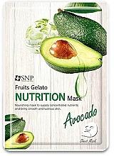 Parfémy, Parfumerie, kosmetika Výživná pleťová maska s avokádem - SNP Fruits Gelato Nutrition Mask