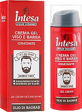 Parfémy, Parfumerie, kosmetika Gel-krém na obličej a brada - Intesa Gel Cream Face And Beard