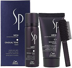 Parfémy, Parfumerie, kosmetika Sada - Wella SP Men Gradual Tone Black (hair/mousse/60ml+shmp/30ml)