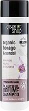Parfémy, Parfumerie, kosmetika Šampon Poklady Srí Lanky pro lesk a sílu vlasů - Organic Shop Organic Sandal and Indian Nut Volume Shampoo