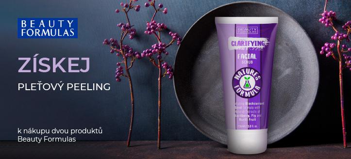 K nákupu dvou produktů Beauty Formulas získej pleťový peeling jako dárek