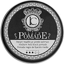 Parfémy, Parfumerie, kosmetika Černá pomáda na vlasy pro muže - Lavish Care Black Pomade Medium Hold Black